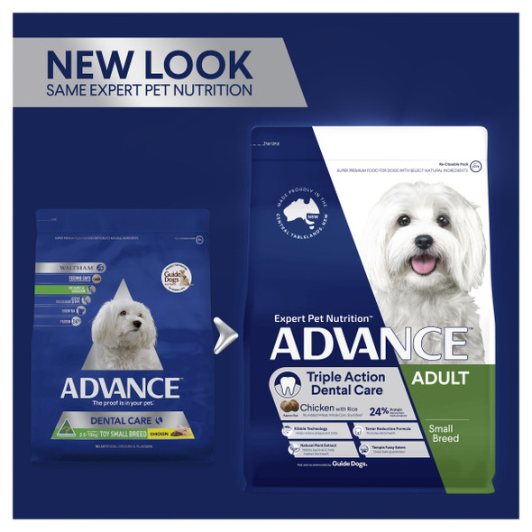 Advance Dog Adult Small Breed Dental Care Triple Action - Chicken 2.5Kg