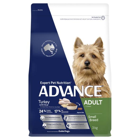 Advance Dog Adult Small Breed - Turkey 3Kg