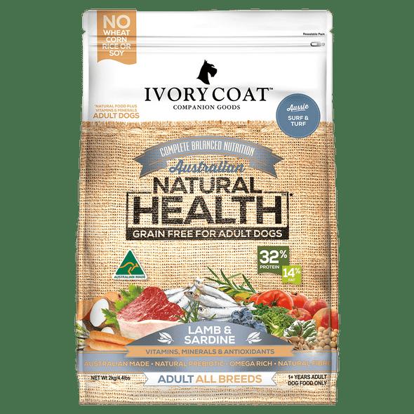 Ivory Coat Dog Lamb & Sardine 13Kg