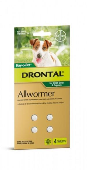 Bayopet Drontal Dog Small 3Kg 4Tab
