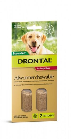 Bayopet Drontal Dog Chew 35Kg 2Tab