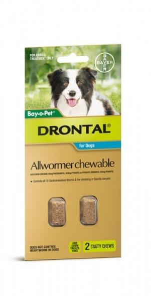 Bayopet Drontal Dog Chew 10Kg 2Tab