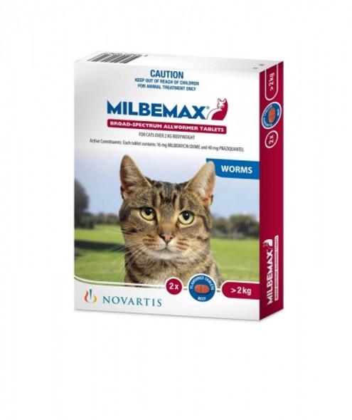 Milbemax Cat Over 2Kg 2Pk