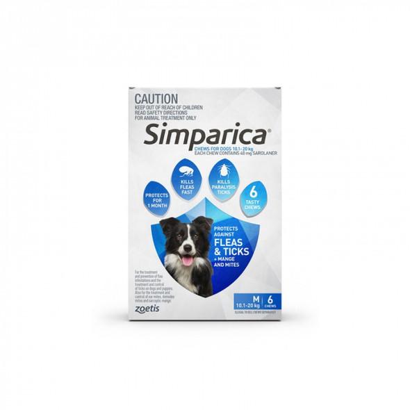 Simparica 10.1-20Kg 6 Pack