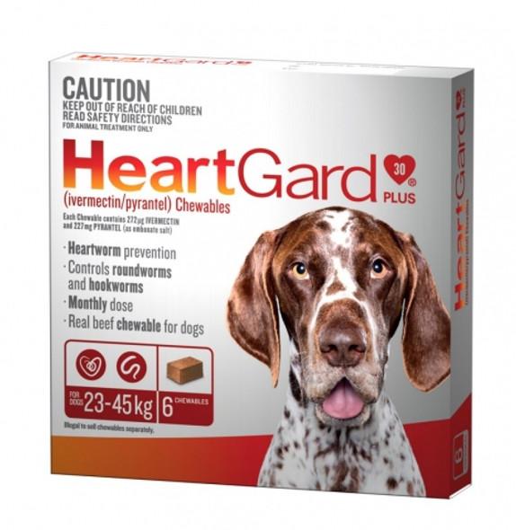 Heartgard Plus Dog Chewables 23-45Kg 6 Pack