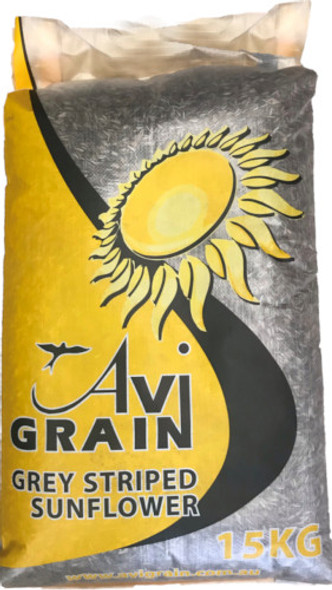 Avigrain - Grey Striped Sunflower 15Kg
