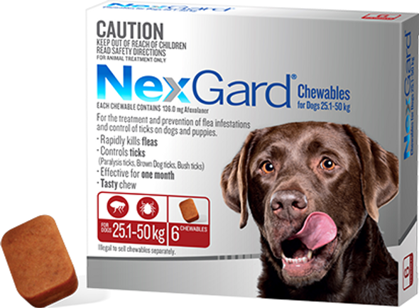 Nexgard 25.1-50Kg 3Pk
