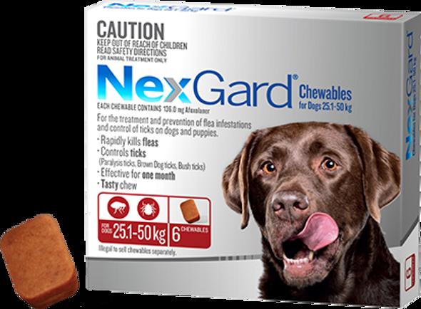 Nexgard 25.1-50Kg 6Pk
