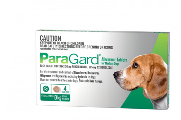 Paragard Medium Dogs (Up To 10Kg 4 Pack)
