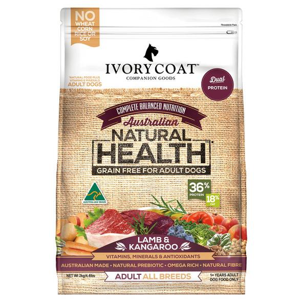 Ivory Coat Dog Lamb & Kangaroo 2Kg