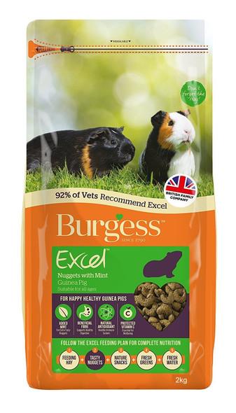 Burgess - Guinea Pig Pellet w/Mint 2Kg