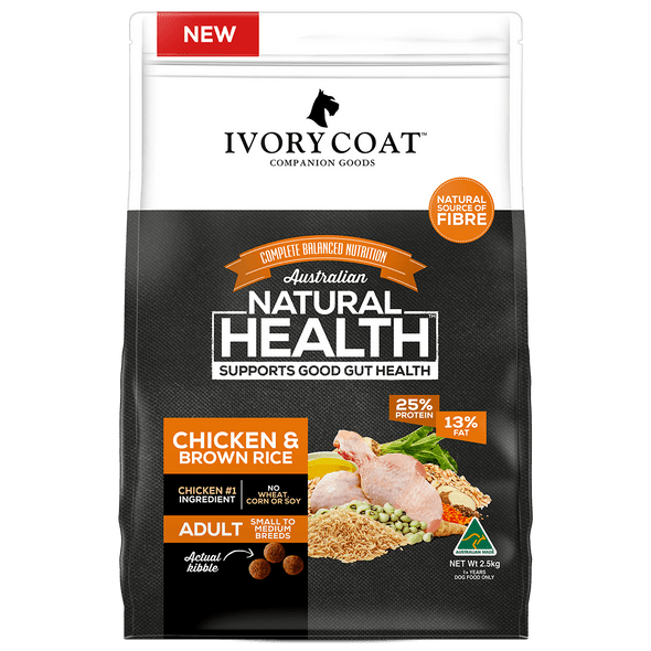 Ivory Coat Wholegrains - Chicken & Brown Rice 2.5Kg