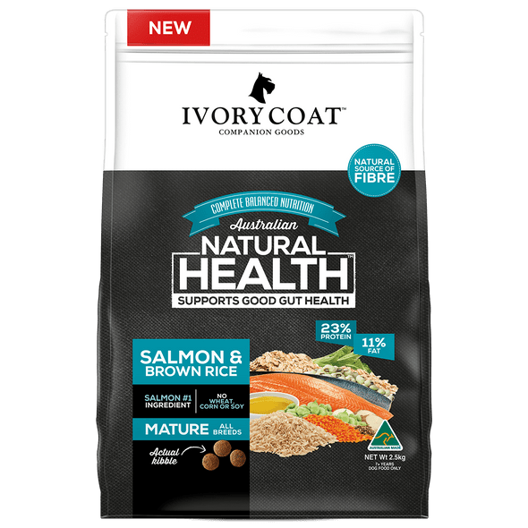 Ivory Coat Wholegrains - Mature Salmon & Brown Rice 2.5Kg