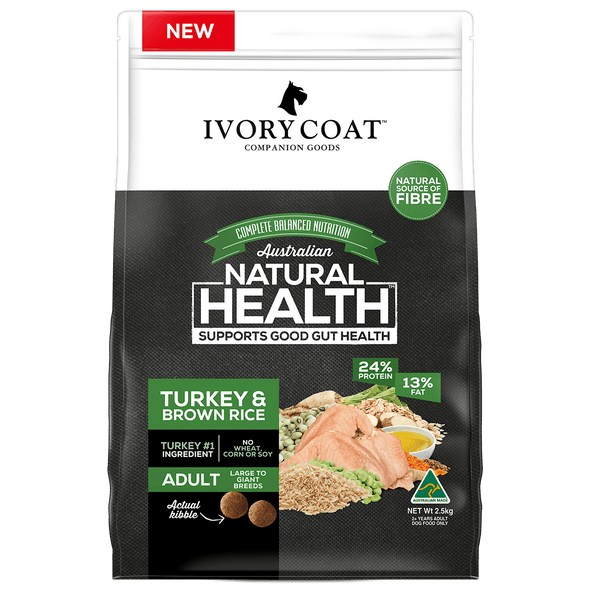 Ivory Coat Wholegrains - Lge Turkey & Brown Rice 18Kg