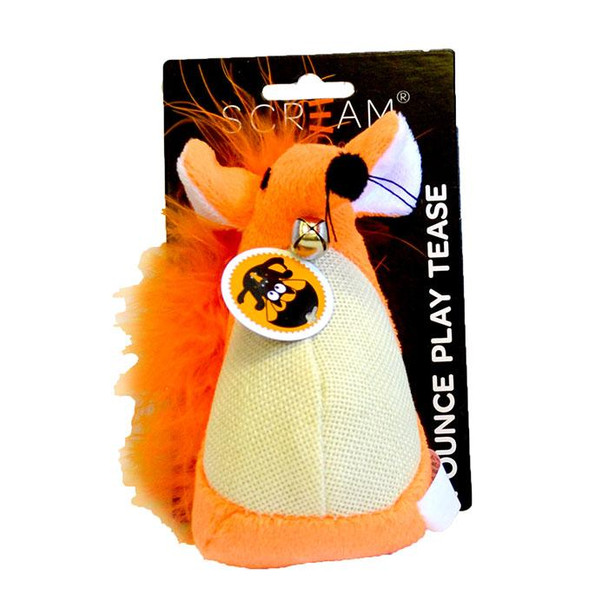 Scream - Fatty Mouse Cat Toy Orange 13cm