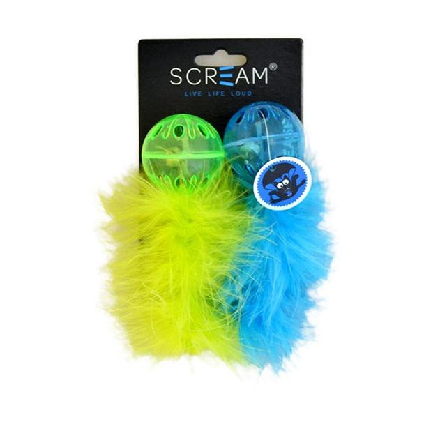 Scream - Lattice Feather Ball - Green & Blue