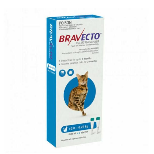 Bravecto Cat Spot On 2.8-6.25Kg 2Pk