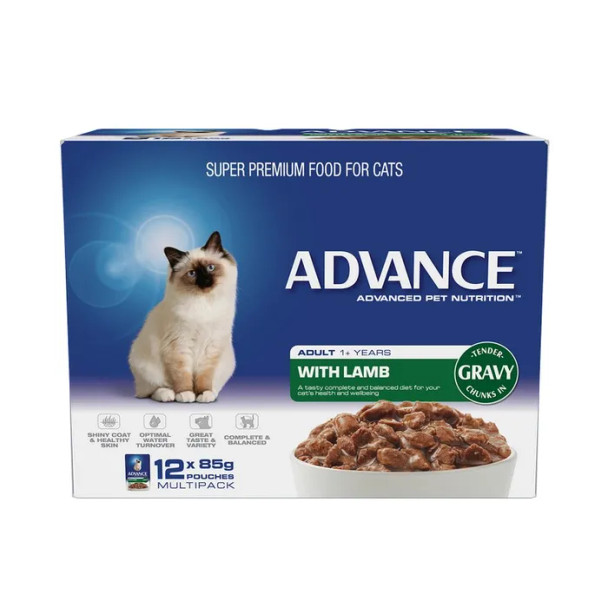 Advance Cat Wet Lamb Gravy 12X85G