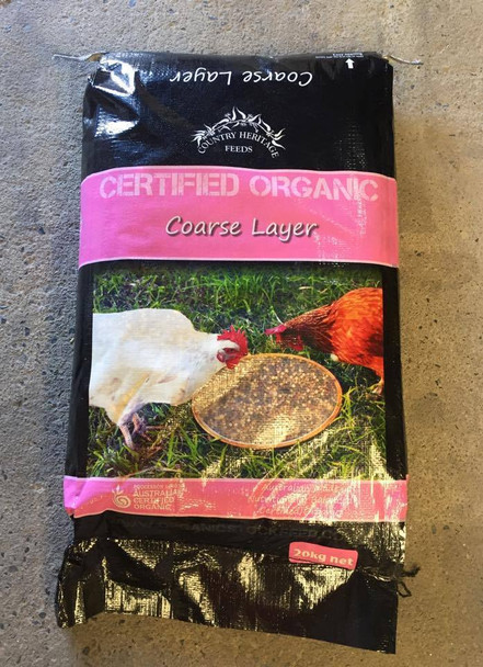 Country Heritage Organic Coarse Layer 20Kg