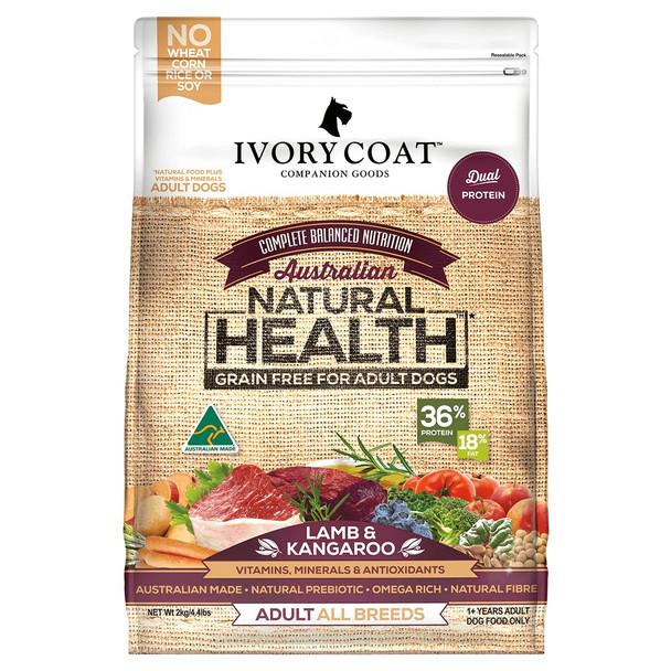 Ivory Coat Dog Lamb & Kangaroo 13Kg
