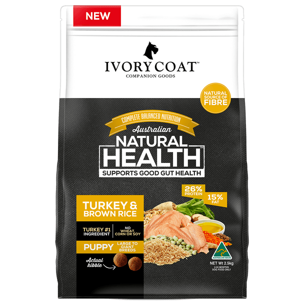 Ivory Coat Wholegrains - Puppy Lge Turkey & Rice 2.5Kg