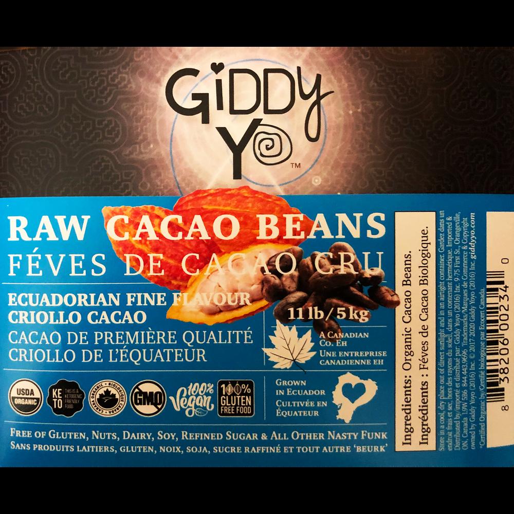 Giddy Yo  BEANS (Ecuador), BULK 5 KG, Certified Organic