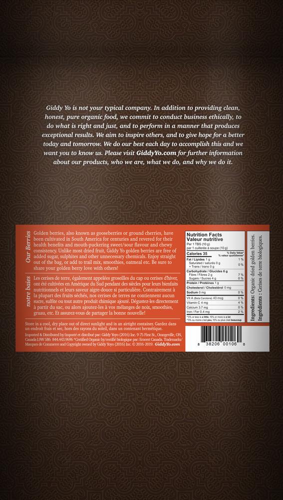 GOLDEN BERRIES (S.America), BULK 5 kg Certified Organic