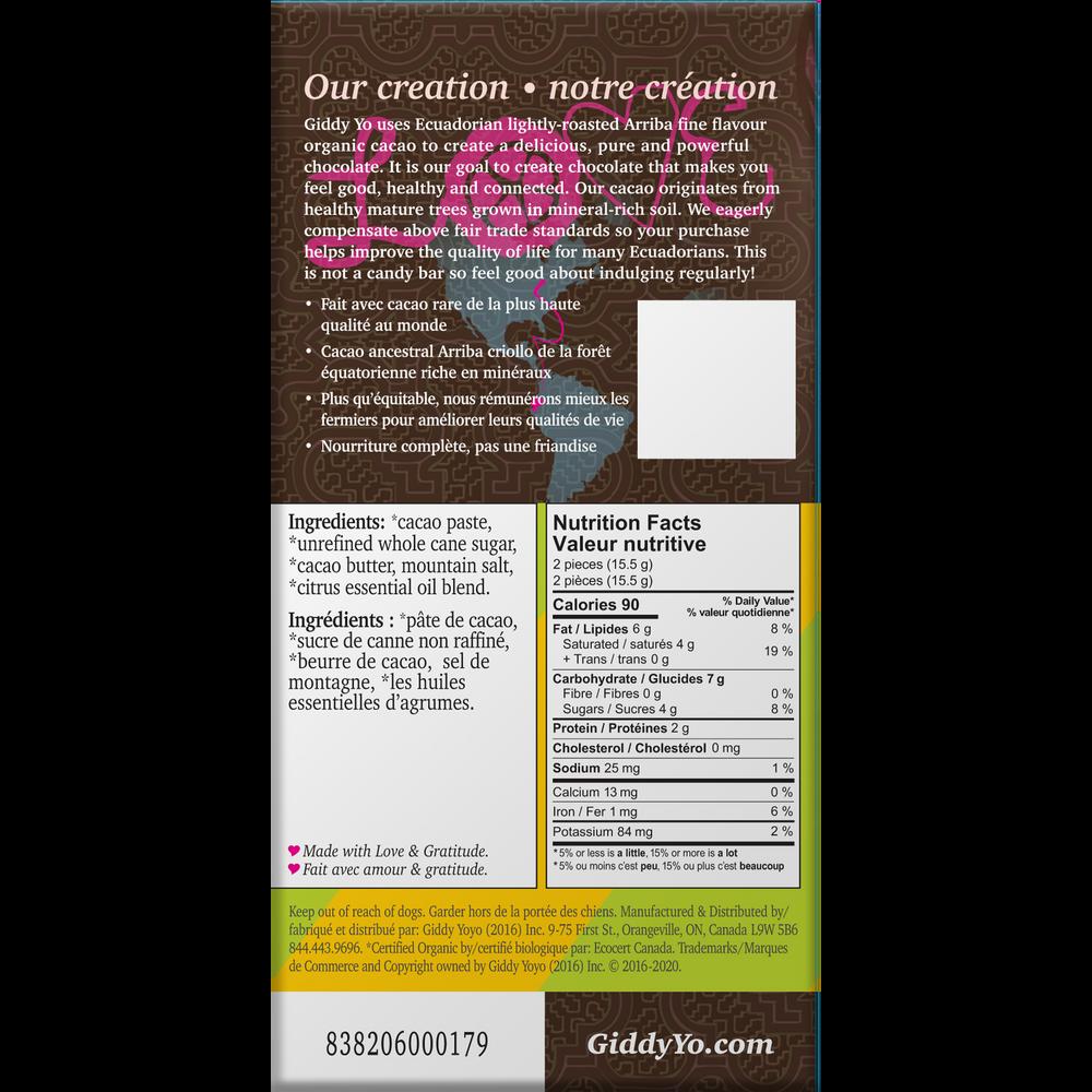 LIMON SALT 76% Dark Certified Organic Case of 20 bars