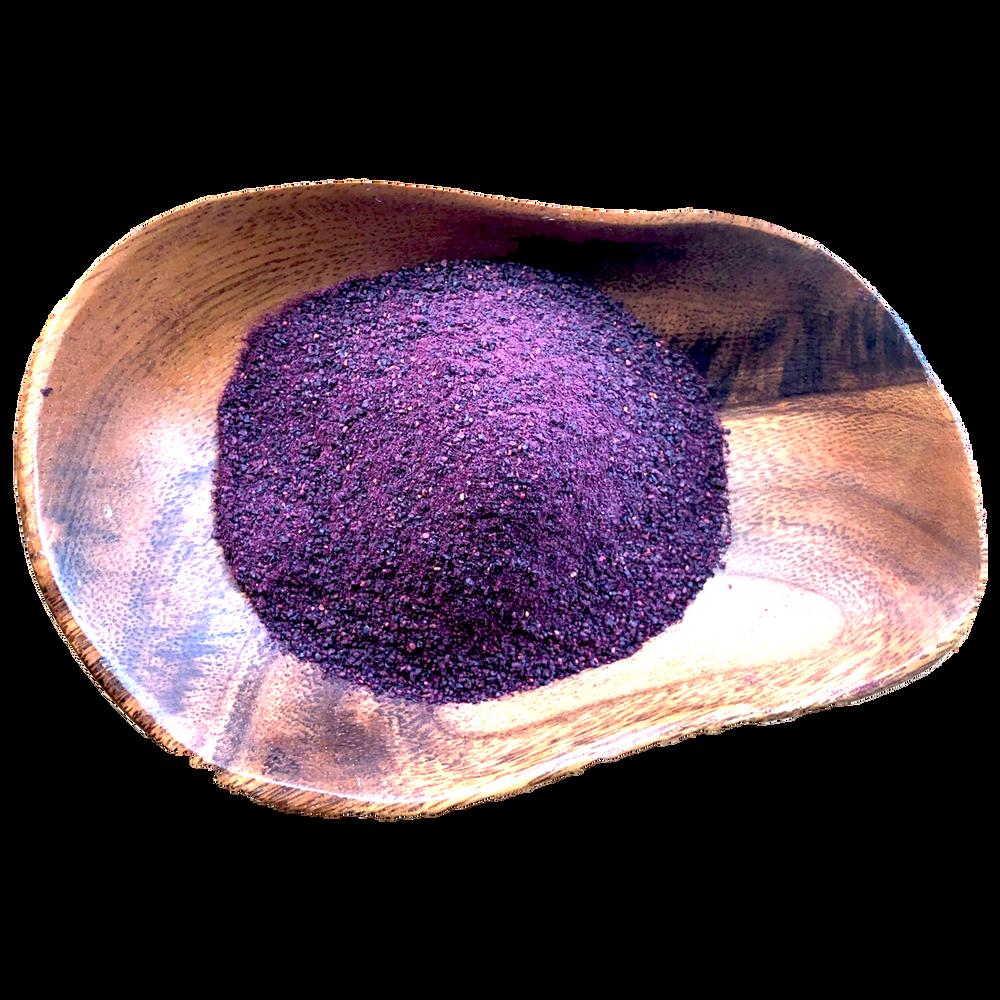 Wild Blueberry Powder in a wooden bowl