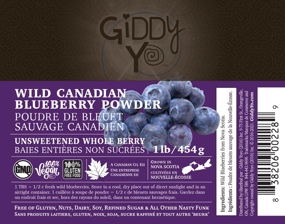 Wild Blueberry Powder - 454 g / 1 lb - Label