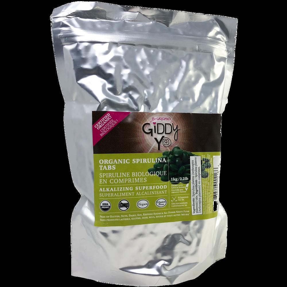 SPIRULINA TABLETS (TABS) (TAIWAN) 1kg BULK Certified Organic