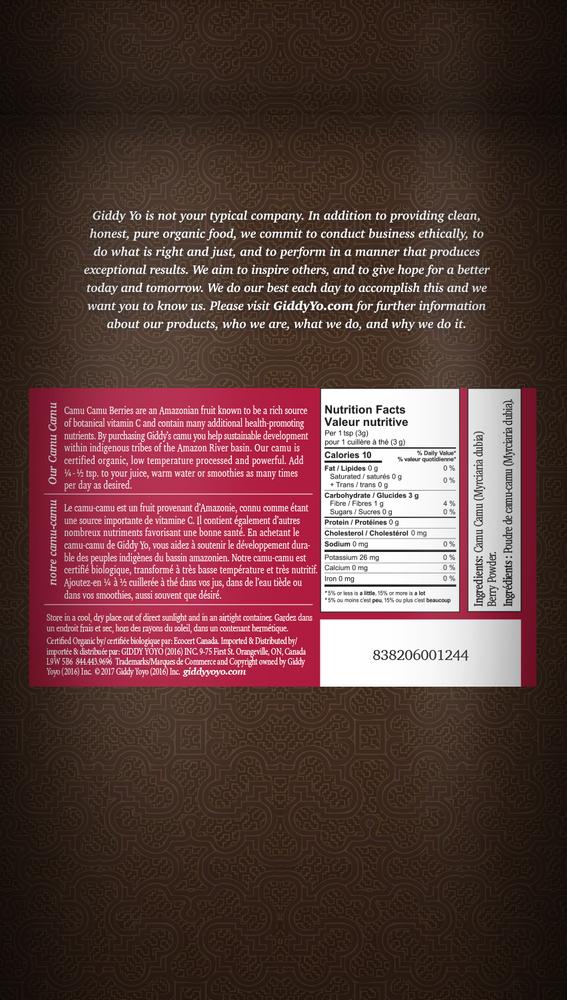 Camu Camu Powder (S. America) Certified Organic 4oz