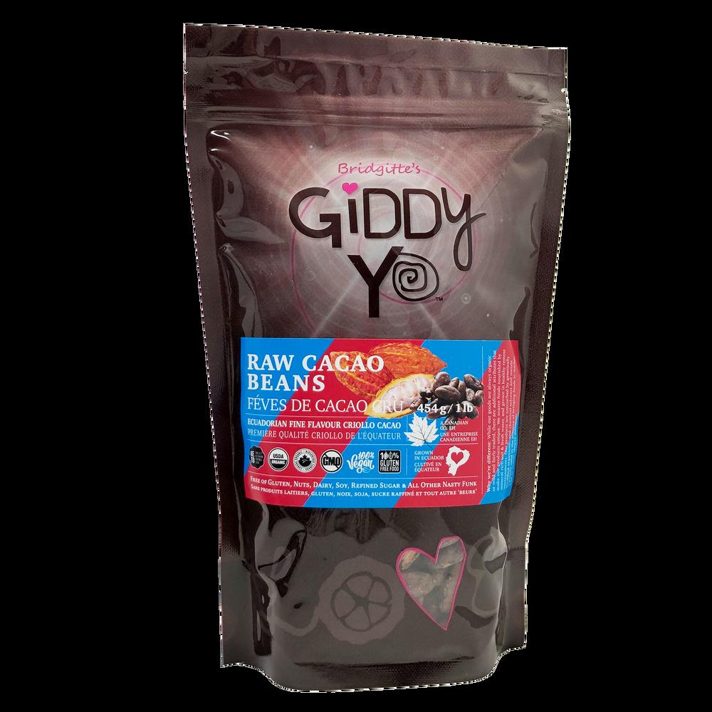 Giddy Yo Cacao Beans (Ecuador) Certified Organic 454g / 1 lb Package