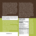SPIRULINA TABLETS (TABS) (TAIWAN) 1kg BULK Certified Organic - BACK LABEL