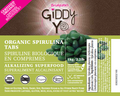 SPIRULINA TABLETS (TABS) (TAIWAN) 1kg BULK Certified Organic  - FRONT LABEL