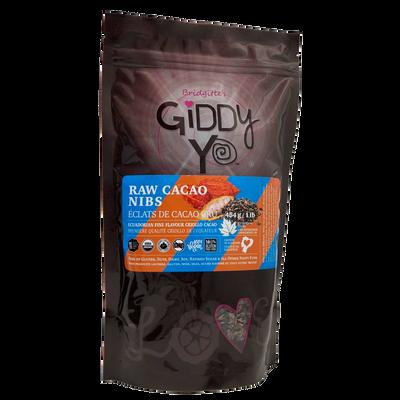 Giddy Yo Cacao Nibs (Ecuador) Certified Organic 454g / 1 lb Package