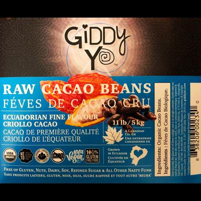 CACAO BEANS (Ecuador), BULK 5 KG, Certified Organic