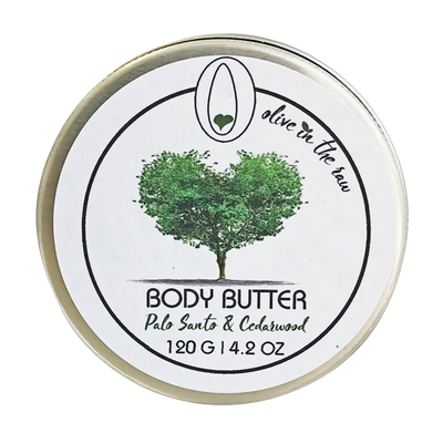 'Olive In The Raw' (Rallis) Body Butter - Palo Santo & Cedarwood 120g / 4.2oz