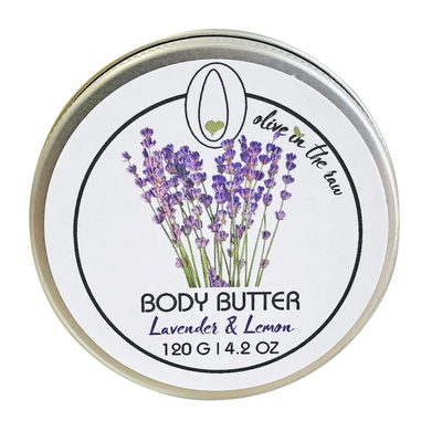 'Olive In The Raw' (Rallis) Body Butter - Lavender & Lemon 120g / 4.2oz