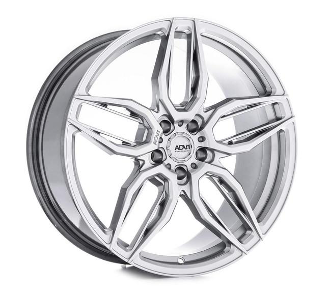 ADV.1 ADV005 Flow Spec Hyper Platinum Black FlowForm Deep Concave Wheel 2015-2020 S550 Mustang GT / Tesla Model 3 20x10.5 +45 5x114.3BC 7.5BS - V20100565P45