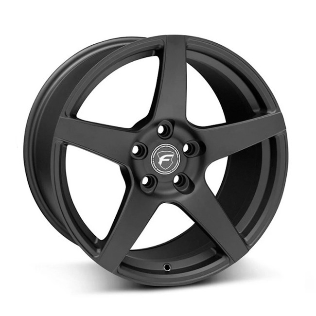 Forgestar CF5 Satin Black Concave Classic Wheel 2005-2020 Mustang GT 20x9.5 +29 5x114.3BC 6.4BS - F21209565P29