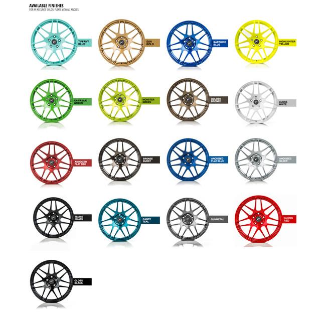 Forgestar Custom Finish Upgrade For CF5, CF5V, CF7S, CF10, F10D and F14 Wheels