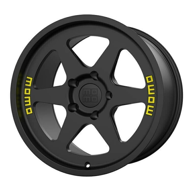 MOMO Heritage 6 Flow Formed Satin Black Wheel 17x11 +20 5x130BC 6.79BS - M50171130P20 for 1975, 1976, 1977, 1978, 1979, 1980, 1981, 1982, 1983, 1984, 1985, 1986, 1987, 1988, 1989 Porsche 911 Turbo Widebody (930).