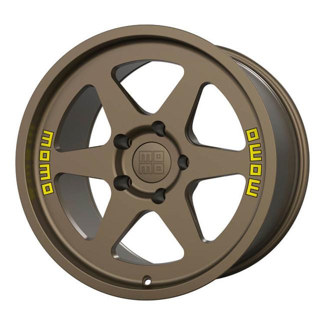 MOMO Heritage 6 Flow Formed Satin Bronze Wheel 17x11 +20 5x130BC 6.79BS - M50271130P20 for 1975, 1976, 1977, 1978, 1979, 1980, 1981, 1982, 1983, 1984, 1985, 1986, 1987, 1988, 1989 Porsche 911 Turbo Widebody (930).