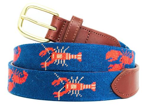 Two Lobsters Needlepoint Belt