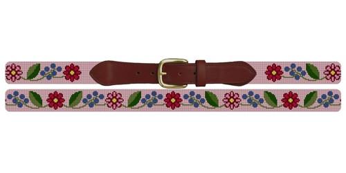 Fresh Floral Needlepoint Belt