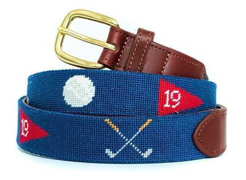19th Hole Needlepoint Belt