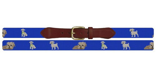 Wire Haired Terrier Needlepoint Belt