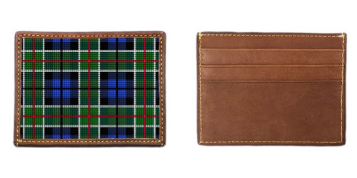 Perfectly Plaid Needlepoint Card Wallet