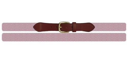 Pink Geometry Needlepoint Belt